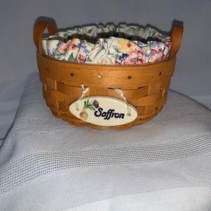 Longaberger Saffron Booking Basket 2003